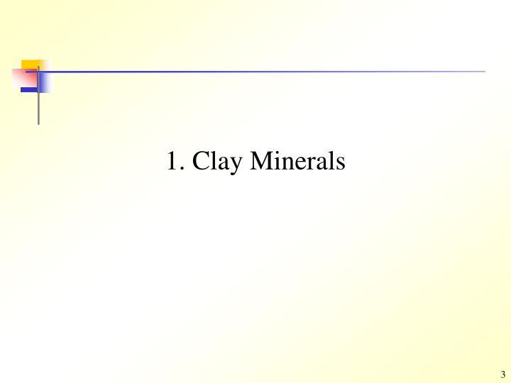 1 clay minerals