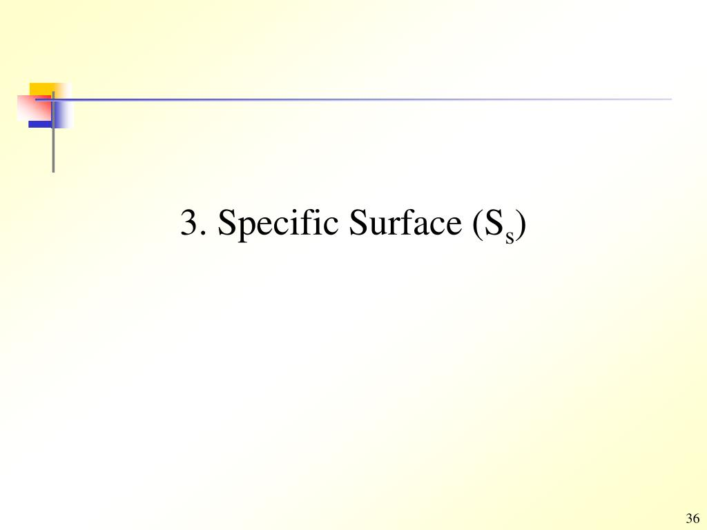 3. Specific Surface (S