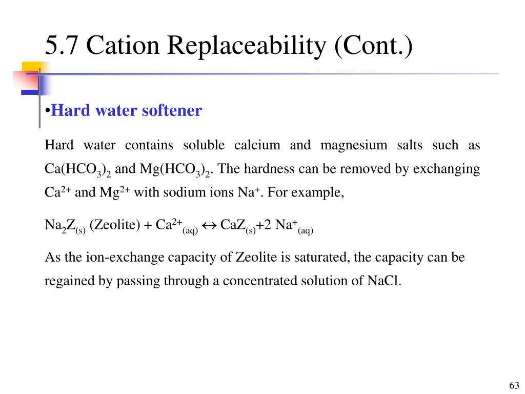 5.7 Cation Replaceability (Cont.)