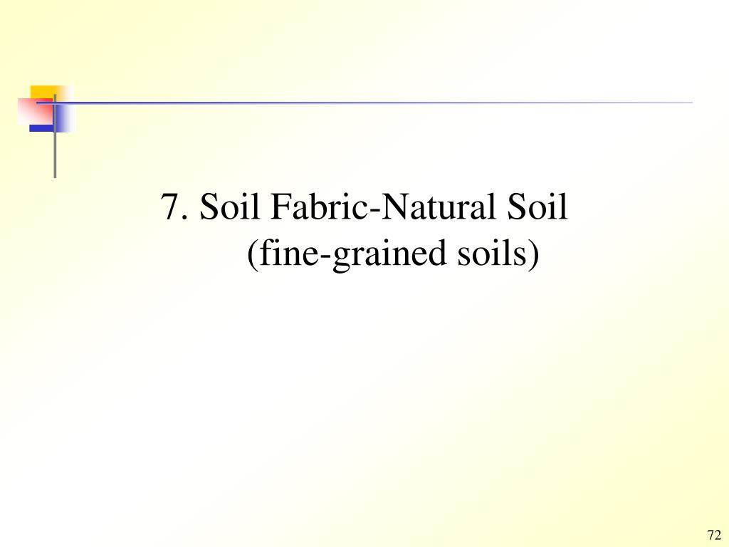 7. Soil Fabric-Natural Soil