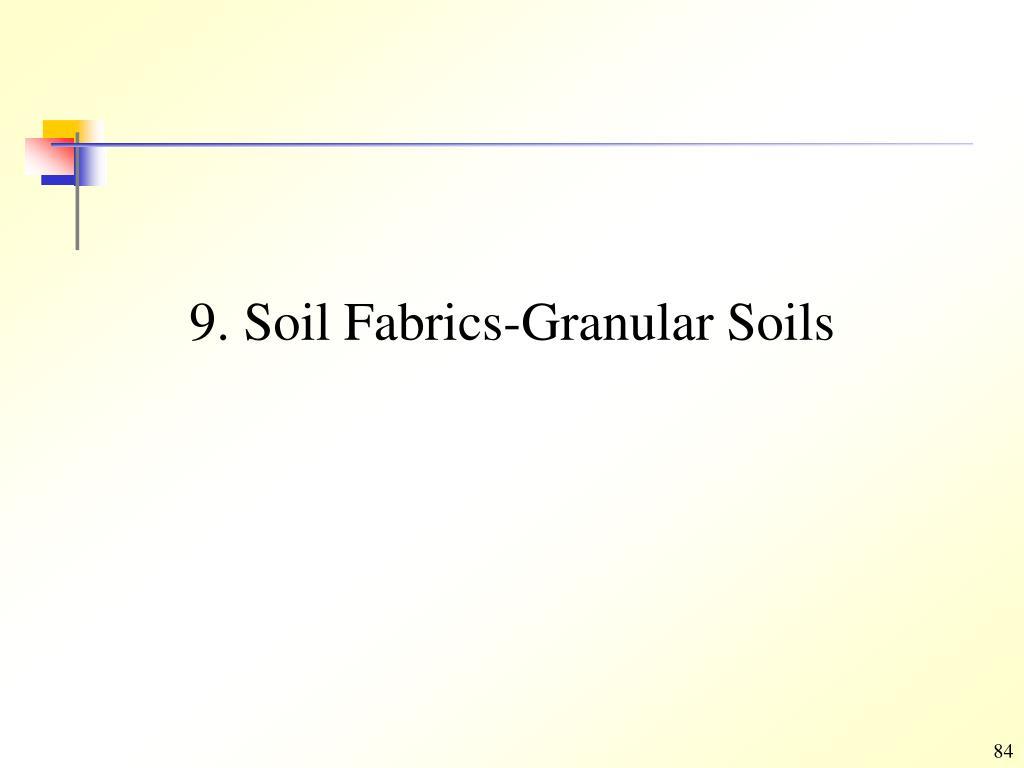 9. Soil Fabrics-Granular Soils