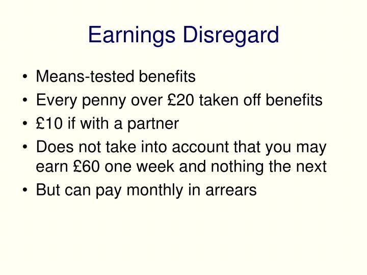 Earnings Disregard