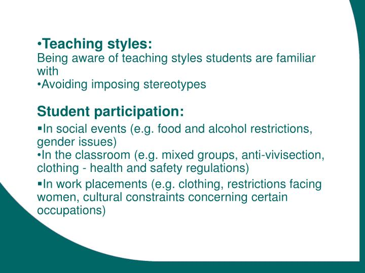Teaching styles: