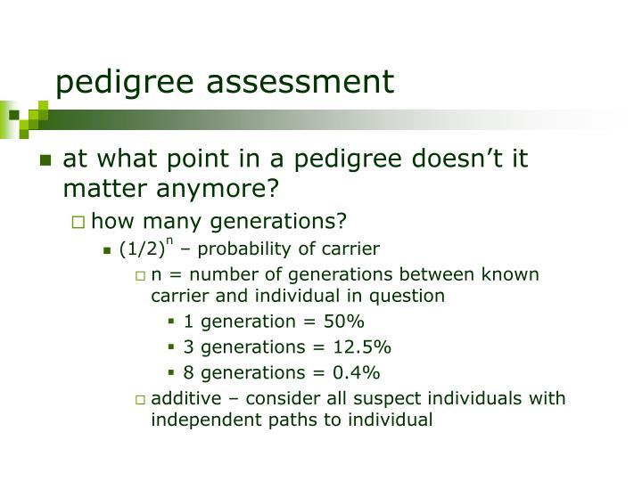 pedigree assessment