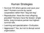 human strategies