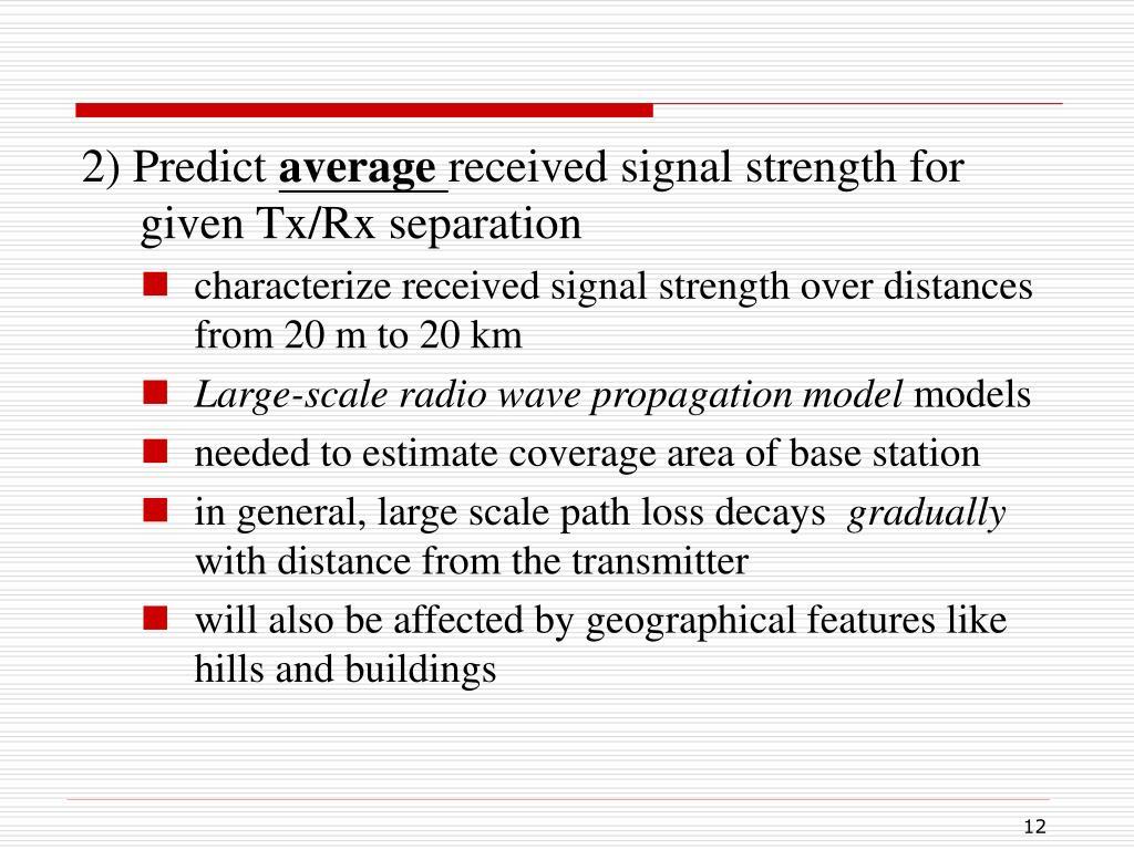 2) Predict
