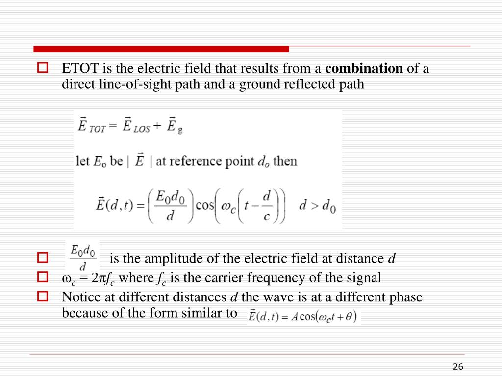 ETOT is the electric field that results from a