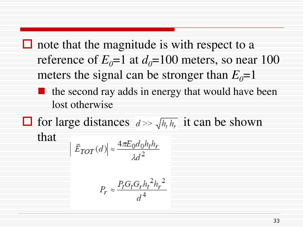 note that the magnitude is with respect to a reference of