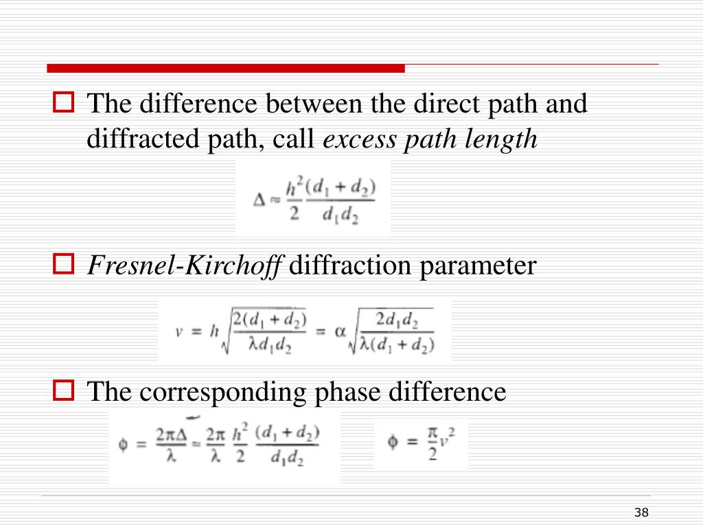 The difference between the direct path and diffracted path, call