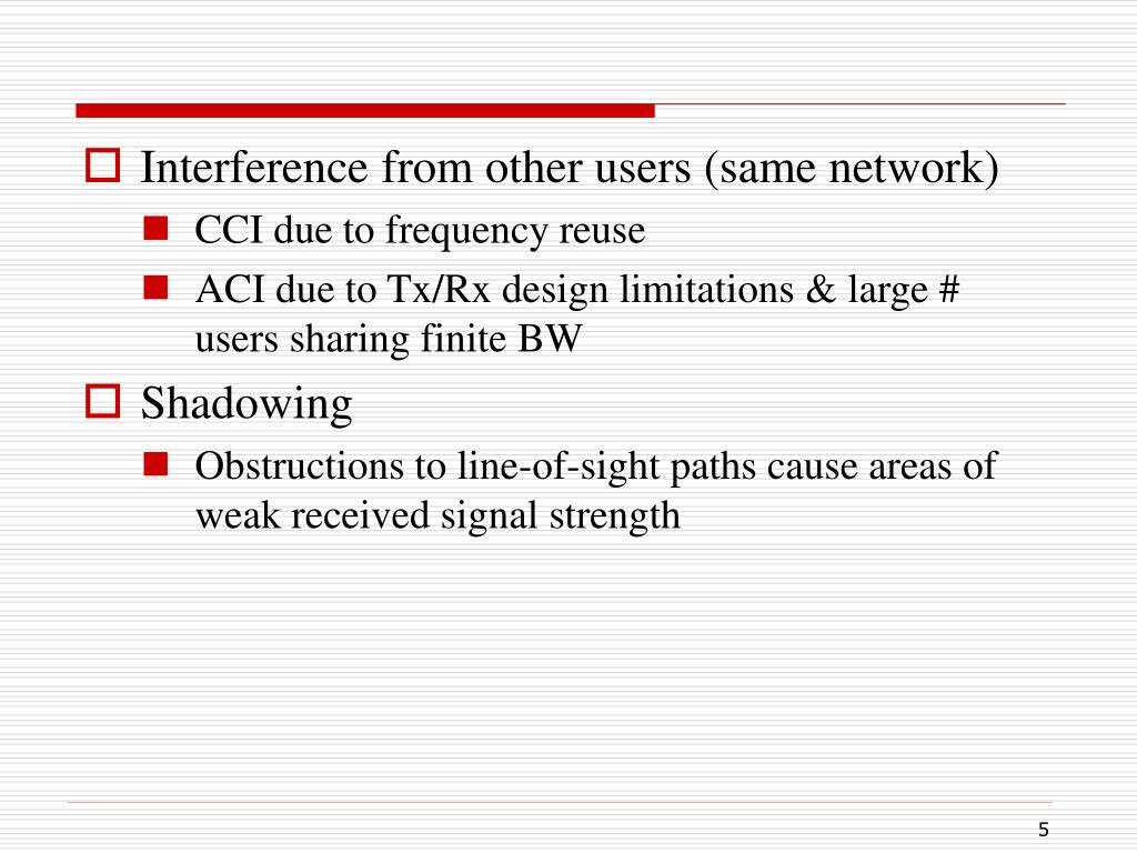 Interference from other users (same network)