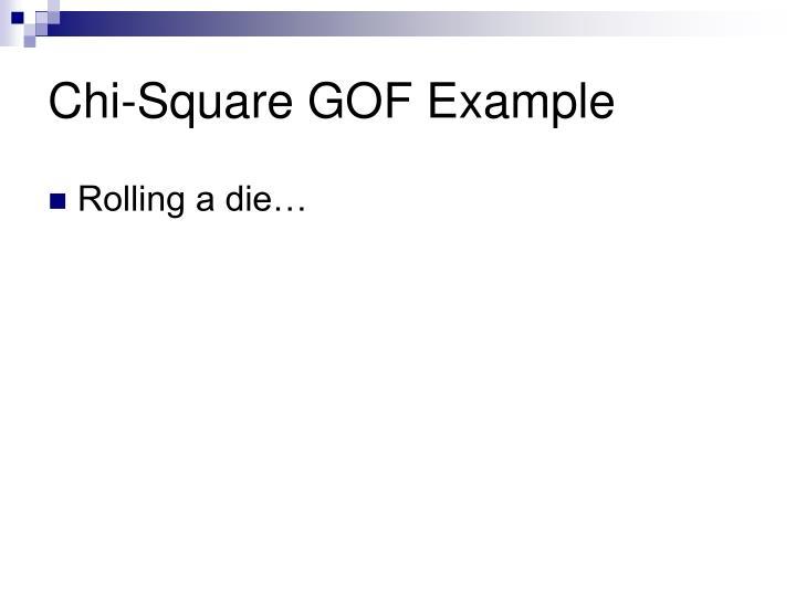 Chi square gof example