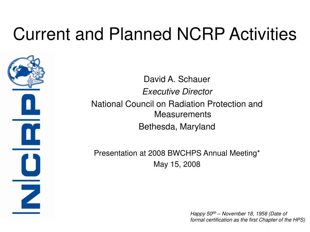 current and planned ncrp activities l.