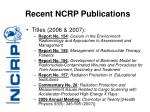 recent ncrp publications7