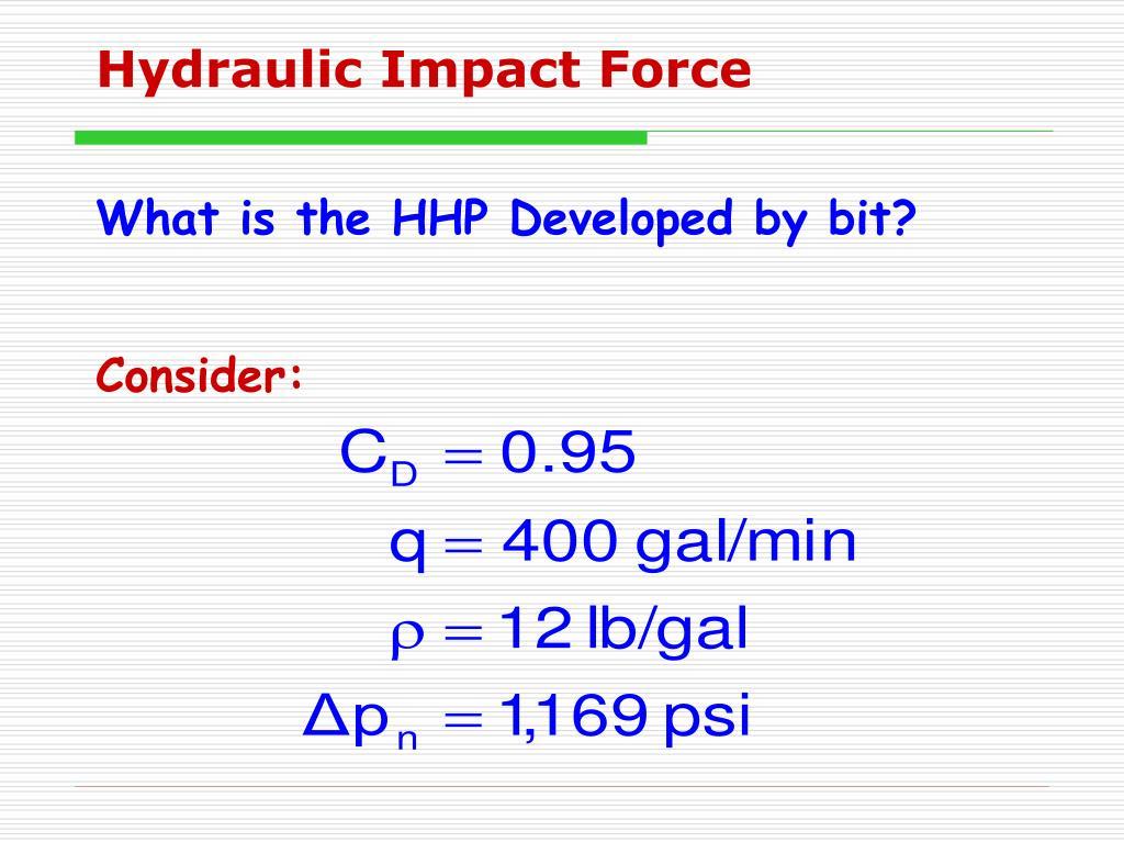 Hydraulic Impact Force