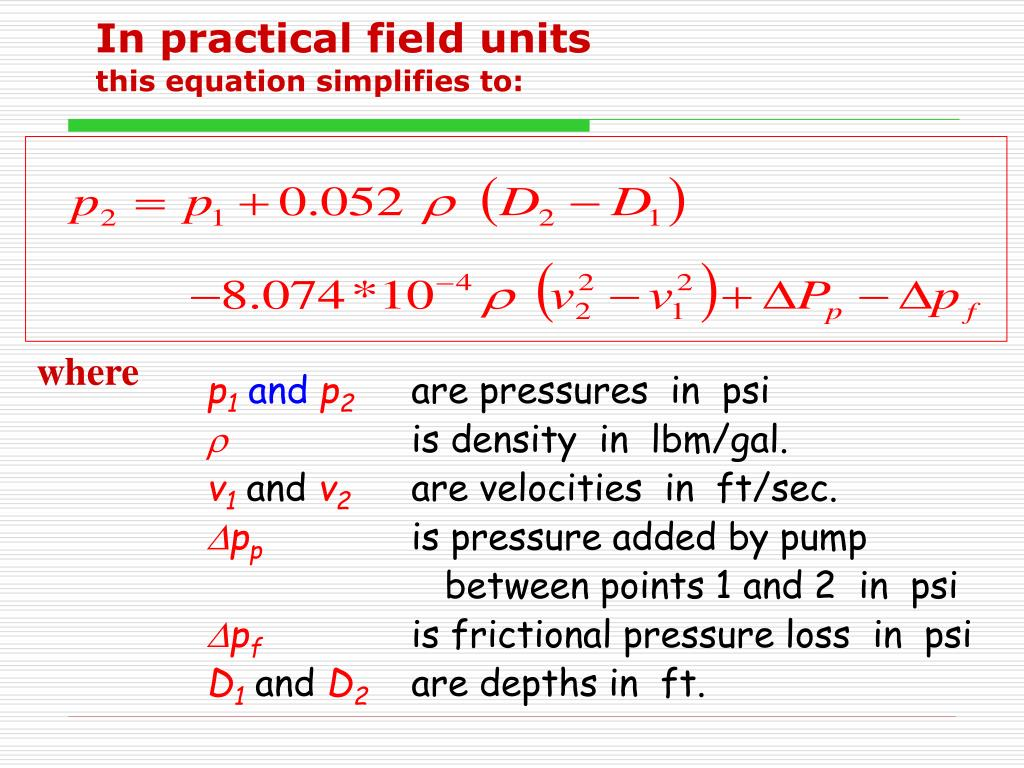 In practical field units