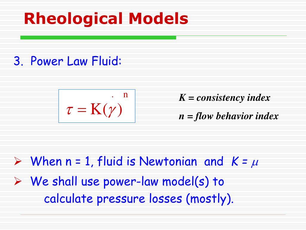 Rheological Models