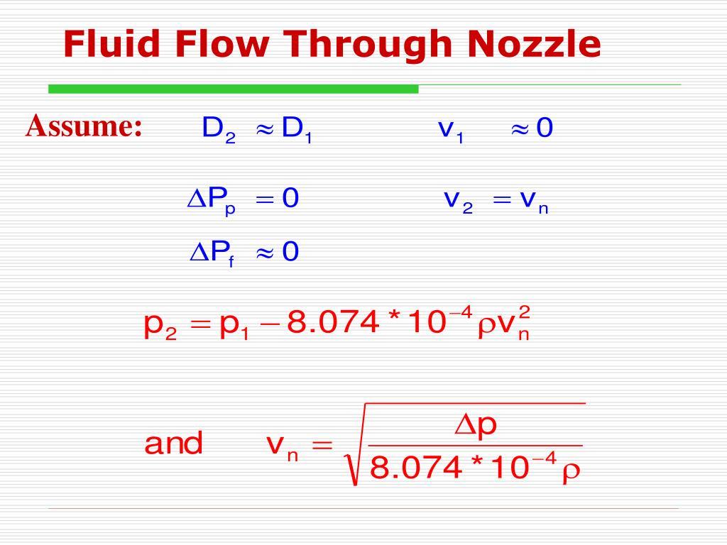 Fluid Flow Through Nozzle