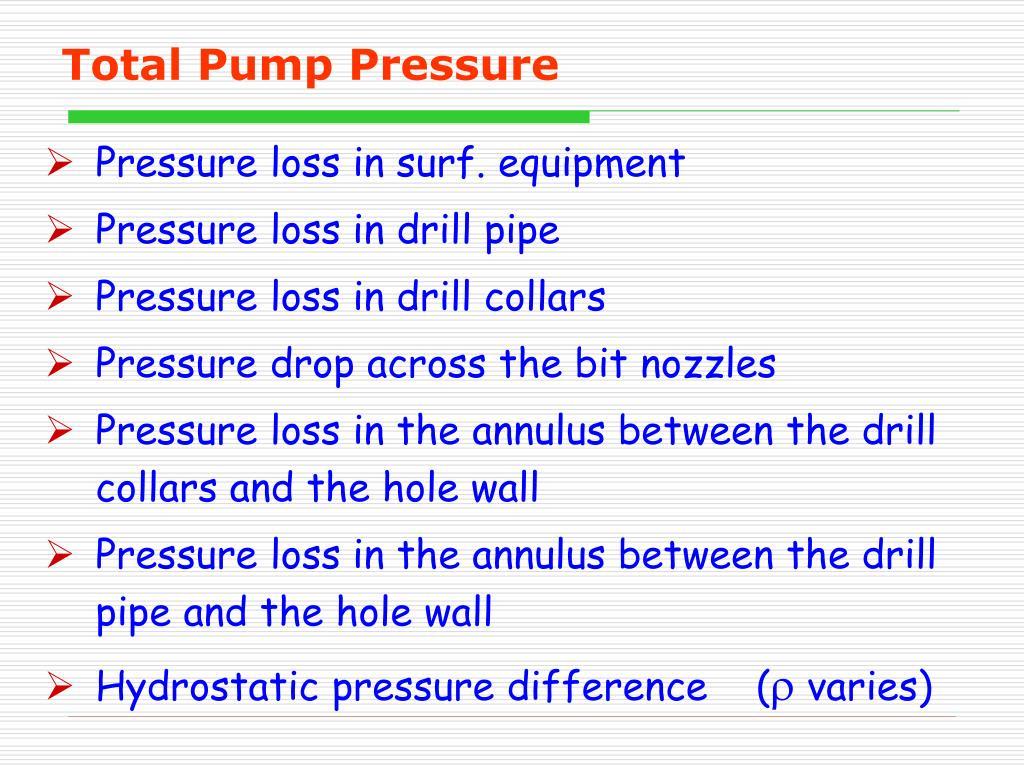 Total Pump Pressure