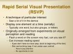 rapid serial visual presentation rsvp