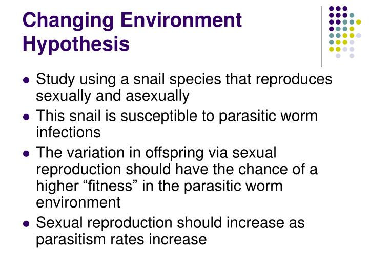 Changing Environment Hypothesis