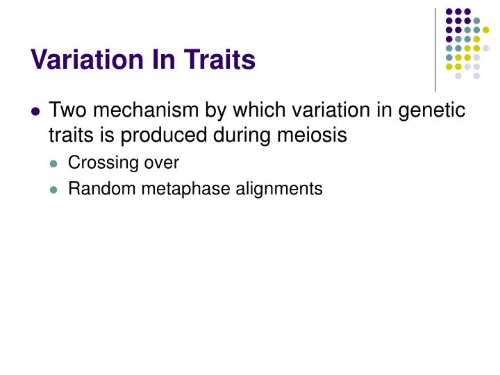 Variation In Traits