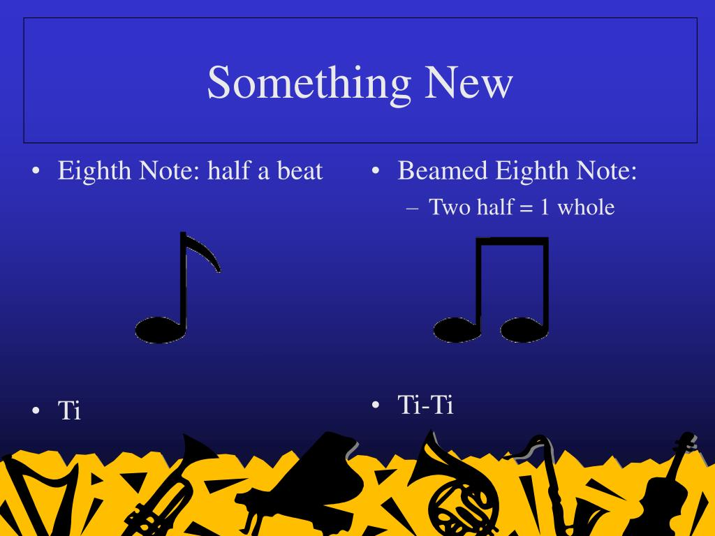 Eighth Note: half a beat