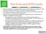 not to exceed nte limits