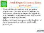 small engine mounted tanks continued