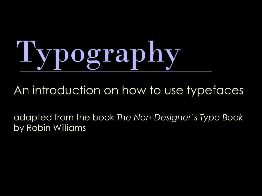 typography l.