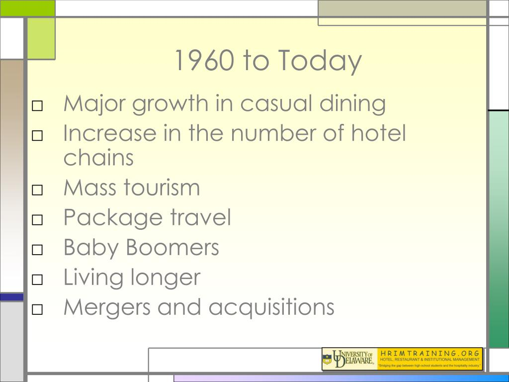 1960 to Today