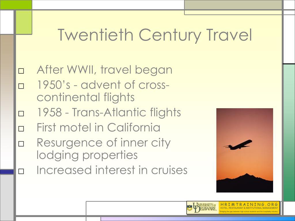 Twentieth Century Travel