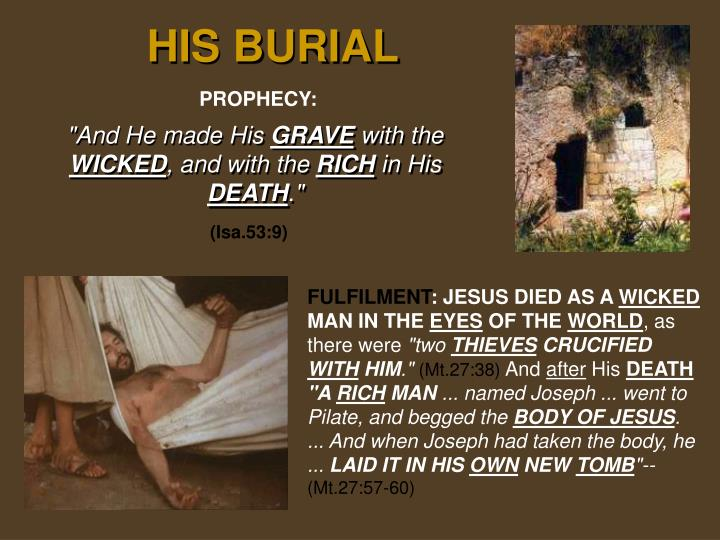 HIS BURIAL