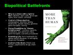 biopolitical battlefronts