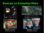 bostrom on existential risks