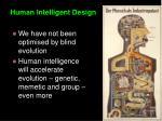 human intelligent design