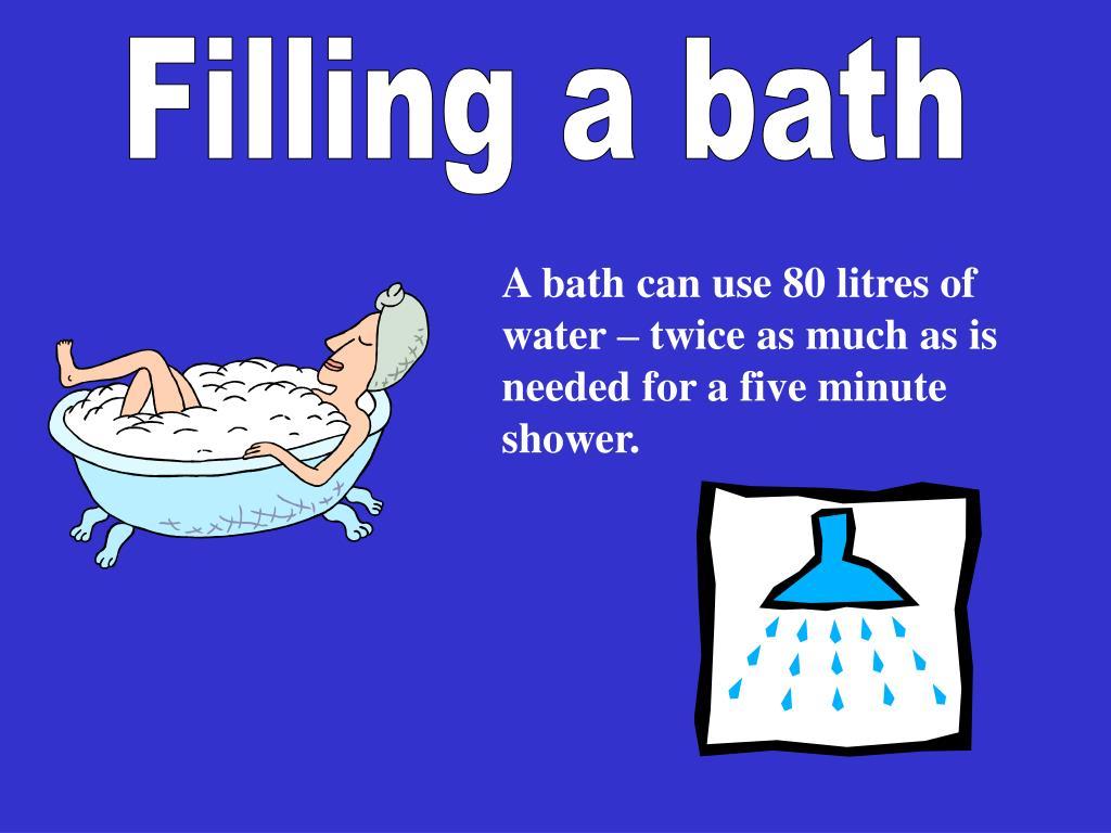 Filling a bath