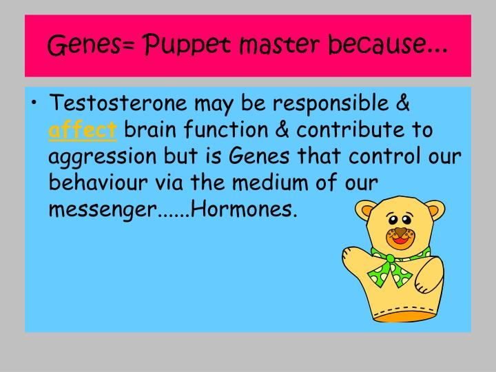 Genes= Puppet master because...