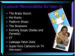 cultural memorabilia for gen x