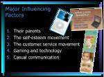 major influencing factors