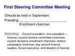 first steering committee meeting