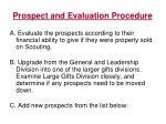 prospect and evaluation procedure