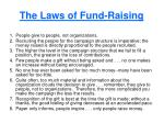 the laws of fund raising