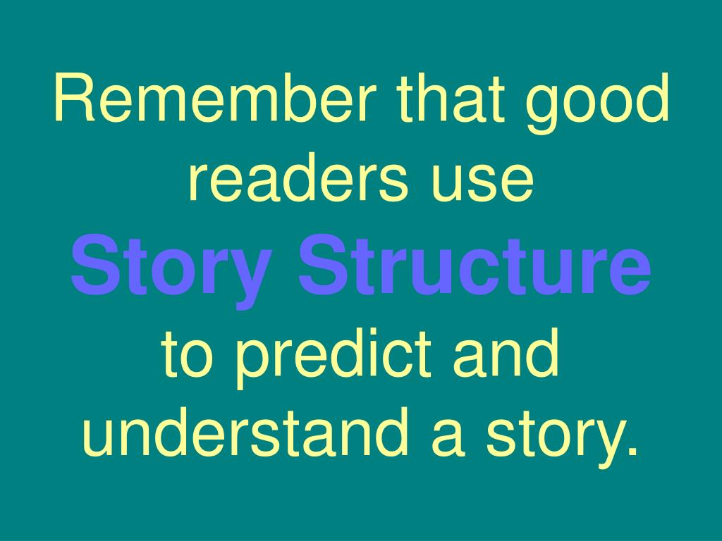 Remember that good readers use