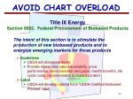 avoid chart overload