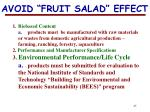 avoid fruit salad effect
