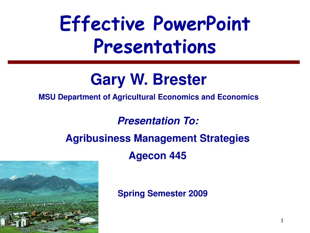effective powerpoint presentations l.