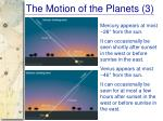 the motion of the planets 3