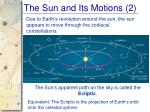 the sun and its motions 2