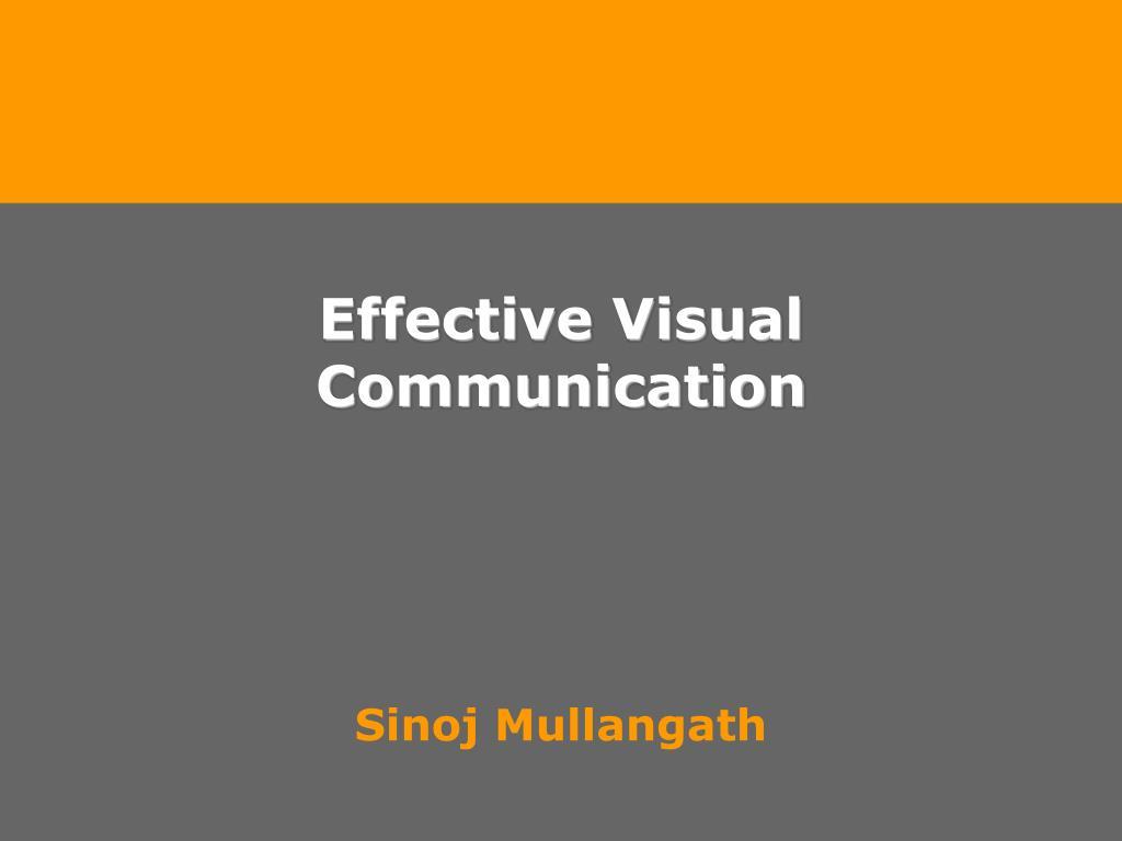 effective visual communication l.