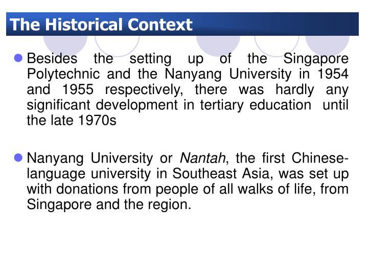 The Historical Context